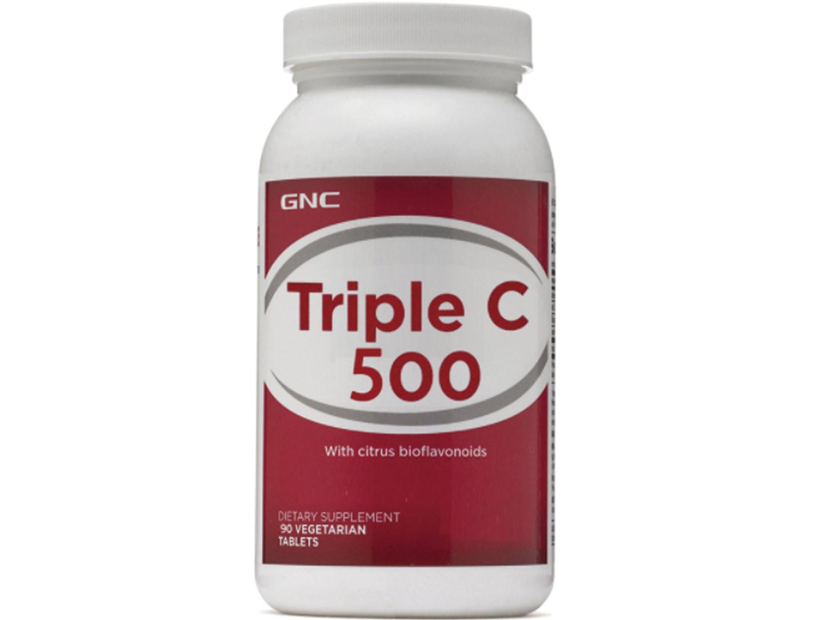 【GNC健安喜】三效維生素C500食品錠 90錠