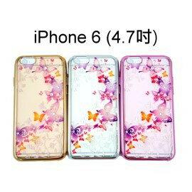 施華洛世奇電鍍邊框軟殼 [蝴蝶谷] iPhone 6 / 6S (4.7吋)
