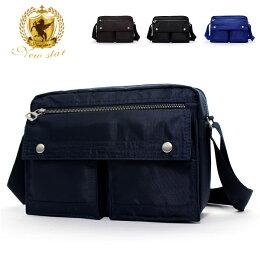 日系雙口袋雙層側背包 (休閒 斜背包 porter風 NEW STAR BL49