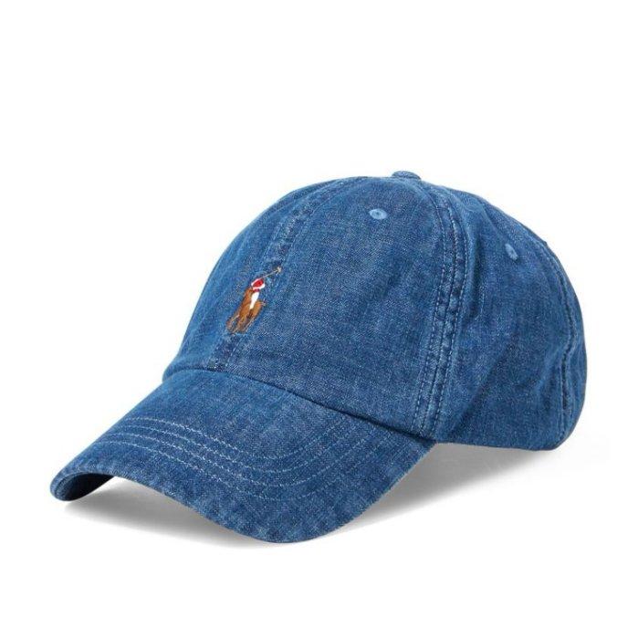 美國百分百【全新真品】Ralph Lauren 帽子 RL 配件 棒球帽 Polo 彩馬 男 遮陽帽 牛仔藍 I769
