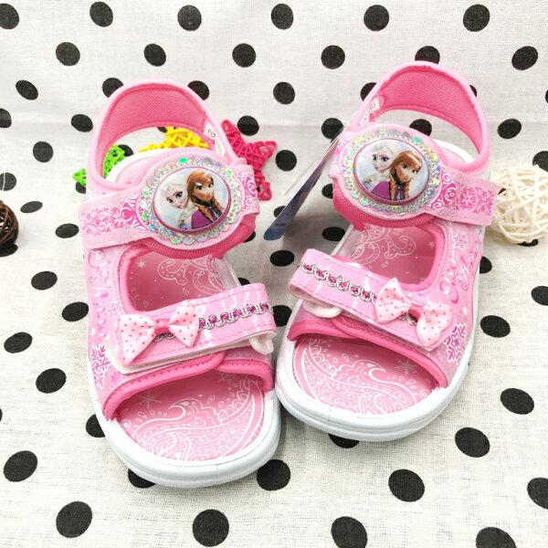 【巷子屋】冰雪奇緣-童款電燈休閒涼鞋[74103]粉MIT台灣製造超值價$200