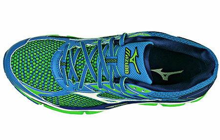 J1GC161101(藍X綠)一般型全腳掌吸震波浪片 WAVE ENIGMA 6 男慢跑鞋 S【美津濃MIZUNO】 2