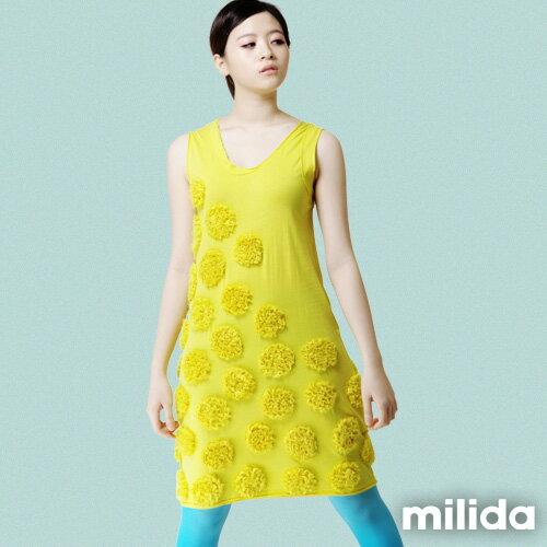 【Milida,全店七折免運】-早春商品-無袖款-獨家設計洋裝 3