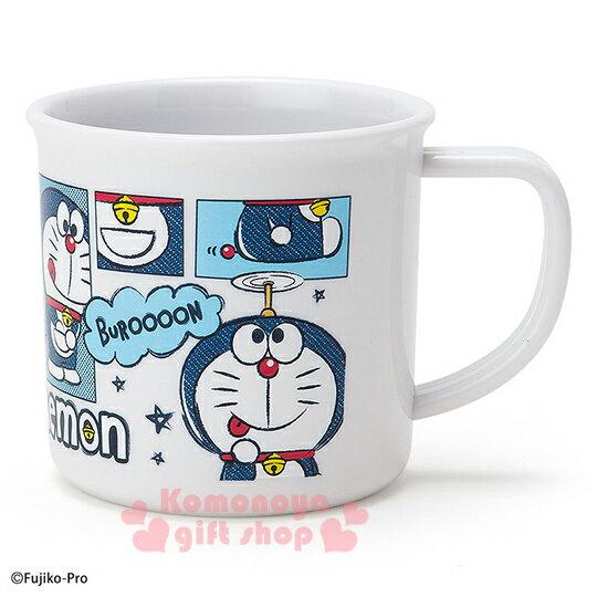 〔小禮堂〕哆啦A夢 塑膠小水杯~白.漫畫.星星~容量約200ml.I  ^#27 m DO