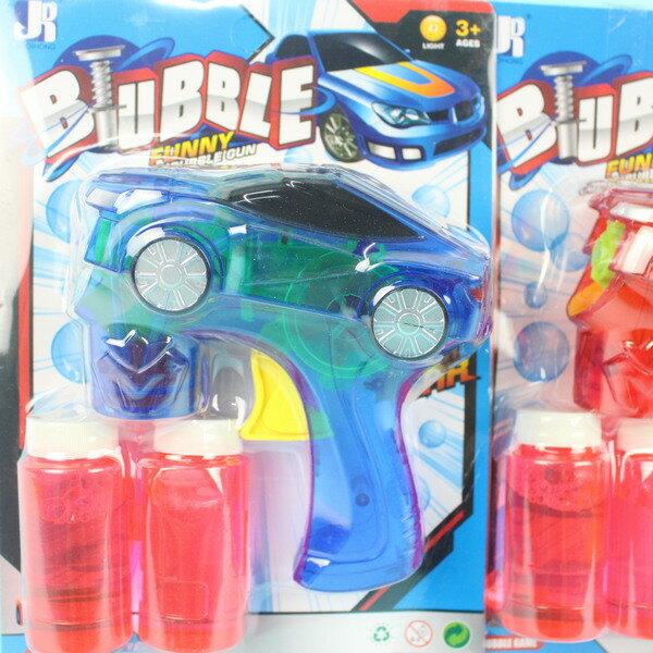 透明跑車燈光泡泡槍+泡泡水(不用裝電池)/一支入{促120}環保泡泡槍 手動泡泡槍 吹泡泡機CF130761
