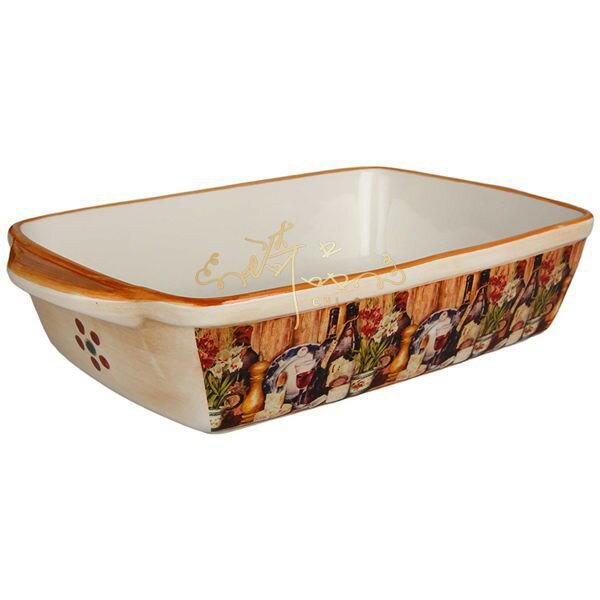 *琦品傢飾精品館*義大利方形焗烤盤/沙拉盆