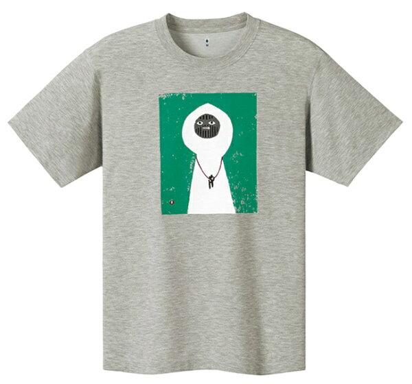 【mont-bell日本】WICKRON短袖排汗衣排汗T恤機能衣白い山男男款碳灰色/1114150