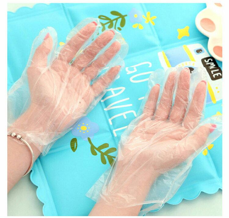 PE一次性薄款手套 家事手套 手扒雞手套 染髮手套《100只袋》