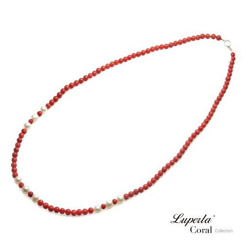 大東山珠寶 luperla:大東山珠寶如意全紅沙丁珊瑚珍珠項鍊
