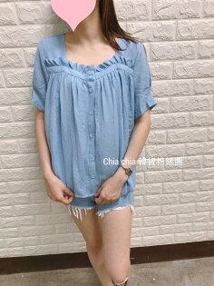 [CHIA]韓國代購回台天空藍娃娃裝上衣