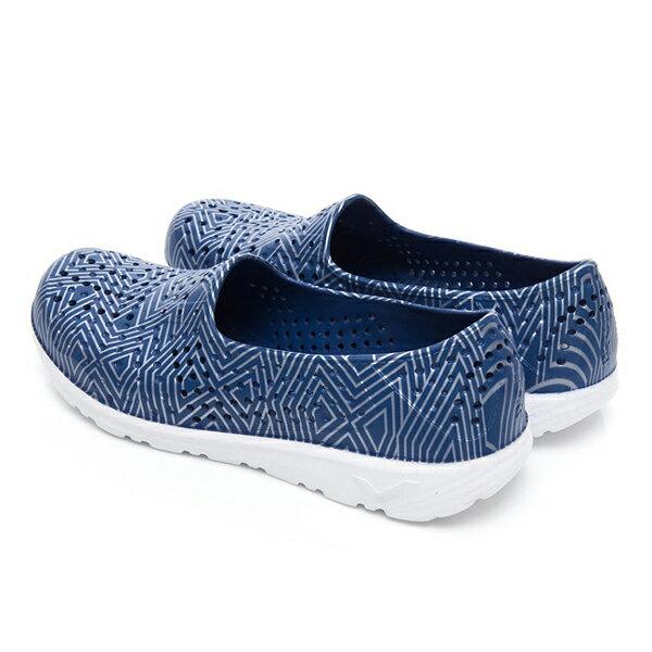 《2019新款》Shoestw【92U1SA06DB】PONY TROPIC 水鞋 軟Q 防水 懶人鞋 洞洞鞋 深藍色銀線 男女尺寸都有 3