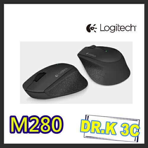 【DR.K3C】【Logitech 羅技】M280無線滑鼠 剩黑色