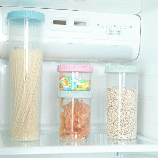 ♚MY COLOR♚可疊放儲物密封罐(1800ML) 五穀雜糧 儲物罐 小號 中號 大號 超大 塑料 廚房 收納罐 食品級 儲物盒 乾貨 收納盒 食品 【Z152】