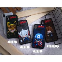 Marvel 手機殼與吊飾推薦到MARVEL漫威 iPhone  X 復仇者聯盟經典Q版人物防手滑殼套就在Miravivi推薦Marvel 手機殼與吊飾