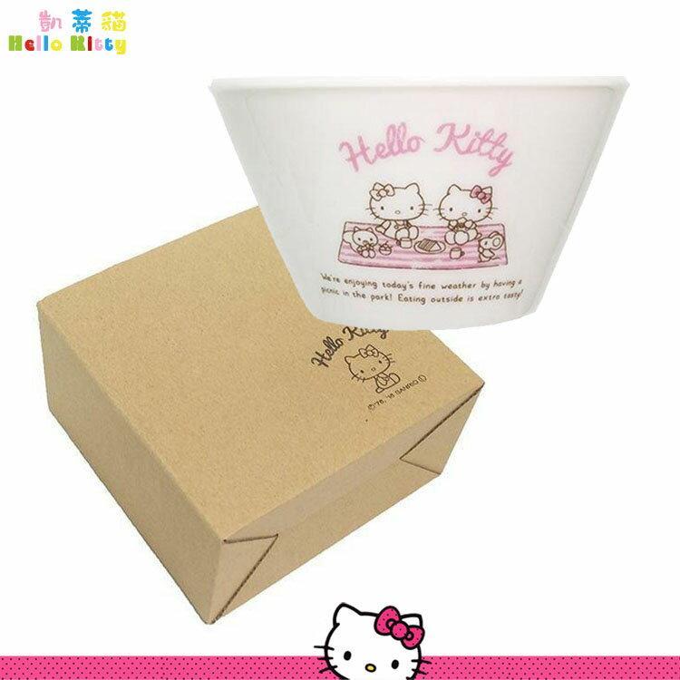 Hello Kitty凱蒂貓 陶瓷碗 餐具 飯碗 造型陶瓷碗 湯碗 餐具 三麗鷗 日本進口正版 309051