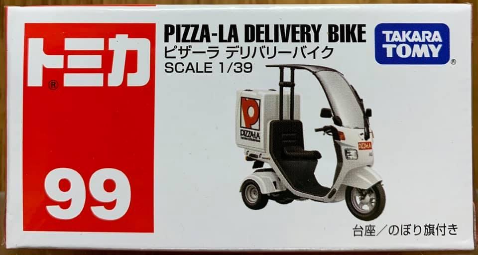 ☆勳寶玩具舖【現貨】Tomica 多美小車 # 99 本田 披薩外送車 PIZZA-LA Delivery Bike