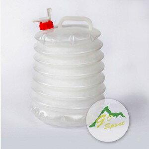 【露營趣】中和安坑 Go Sport 36003 4GAL 燈籠水桶 儲水桶 摺疊水桶 軟式水桶 手提水桶 水龍頭