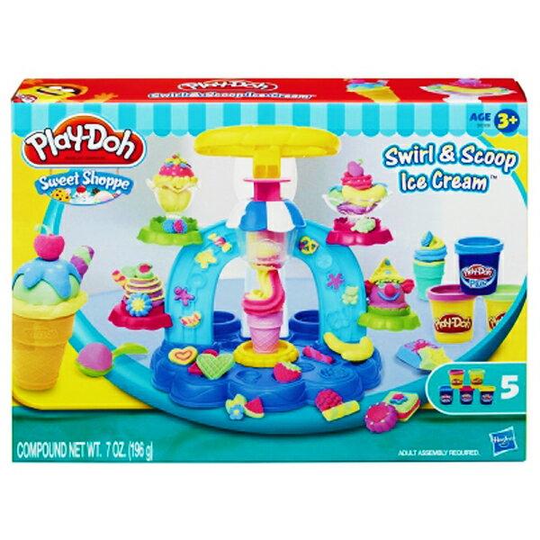 【孩之寶流行玩具】培樂多黏土 聖代冰淇淋遊戲組 B0306