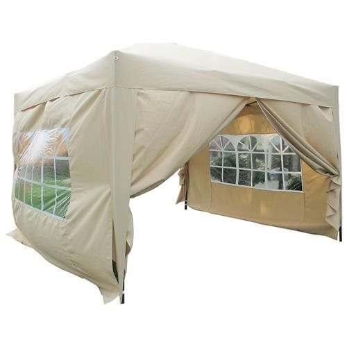 Mcombo 10x10 EZ Pop Up 4-Wall Heavy Duty Canopy Outdoor Party Tent - Tan  sc 1 st  Rakuten.com & mcombo | Rakuten: Mcombo 10x10 EZ Pop Up 4-Wall Heavy Duty Canopy ...