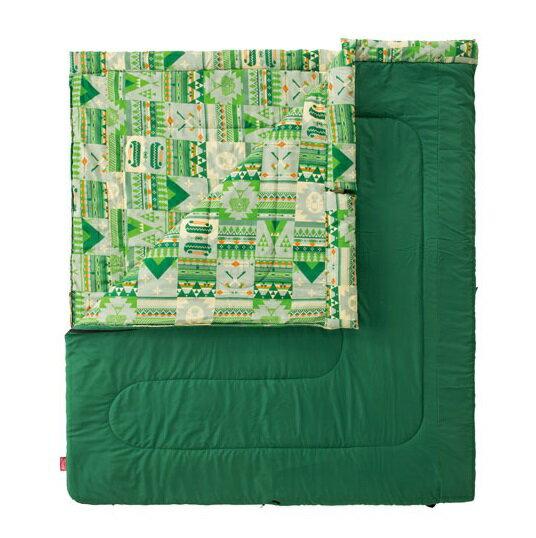 [ Coleman ] 2 IN 1家庭睡袋  C10 綠 / 親子睡袋 / 公司貨 CM-27256