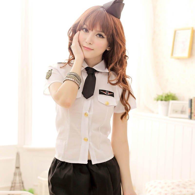 新款情趣性感女警制服誘惑角色扮演警察制服 短裙套裝 H73