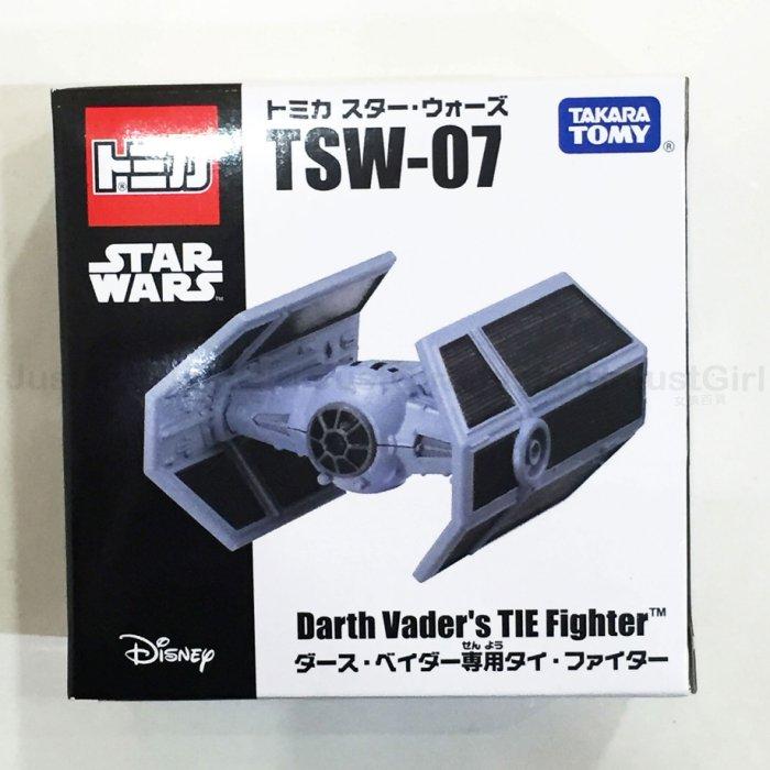 TOMY 玩具車 小汽車 星際大戰 TSW-07 達斯維達 鈦戰機 黑武士 金屬模型車 玩具 正版日本進口 JG