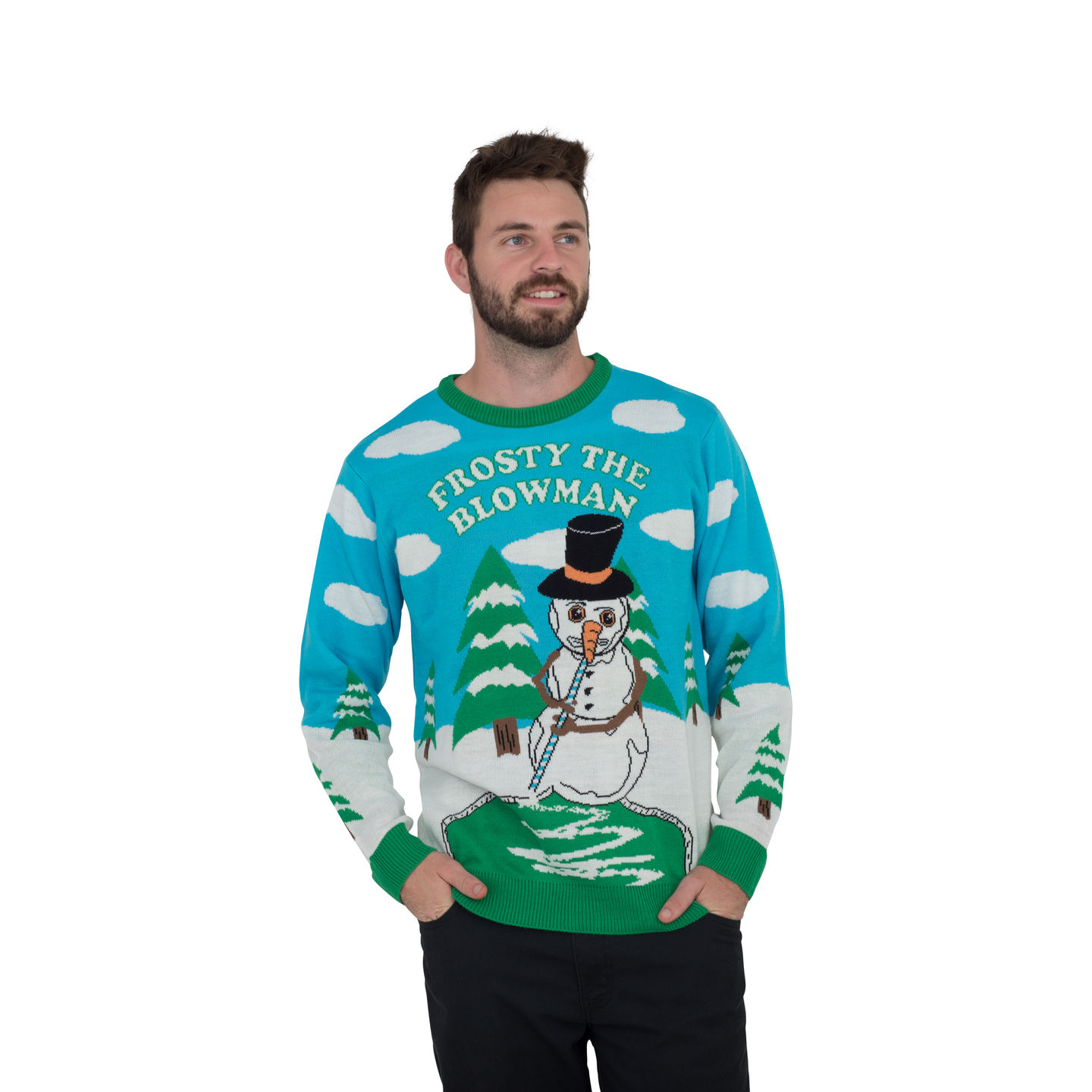 TV Store: Frosty the Blowman Snowman Ugly Christmas Sweater ...