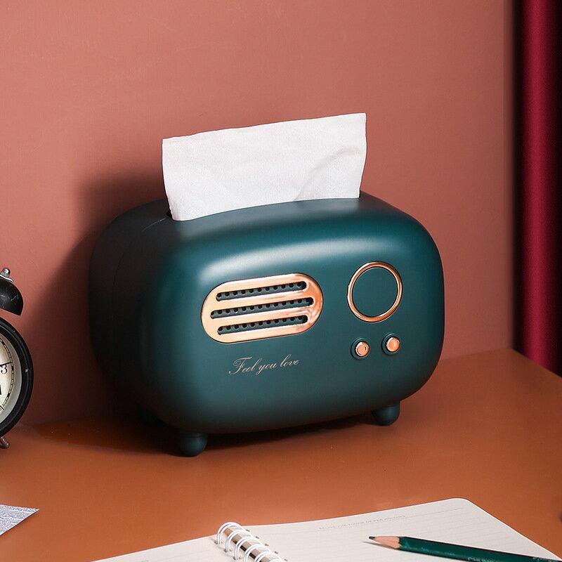 復古創意紙巾盒客廳輕奢家用遙控器餐巾收納盒可愛臥室少女抽紙盒