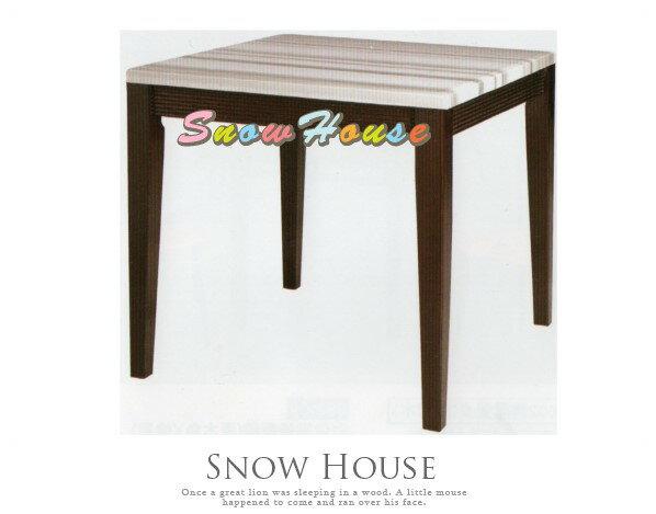 ╭☆雪之屋居家生活館☆╯AA741-01325灰線條石面餐桌飯桌(DIY自組)兩款可選