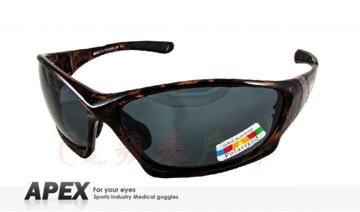 【【蘋果戶外】】APEX J88 玳瑁 台製 polarized 抗UV400 寶麗來鏡片 近視運動眼鏡 太陽眼鏡 偏光鏡 可加購近視鏡框 附原廠盒、擦拭布(袋)