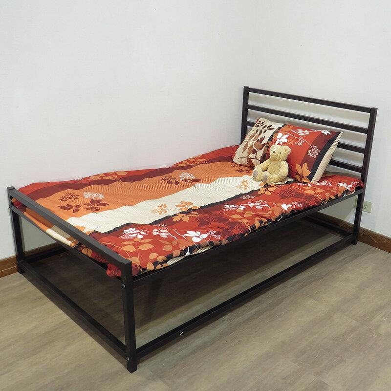 『全新免運』設計款床架 輕量化骨架/單舖/床組/床底 3.5尺 30mm鐵管單人(加大)床架組 空間特工【O1C309】