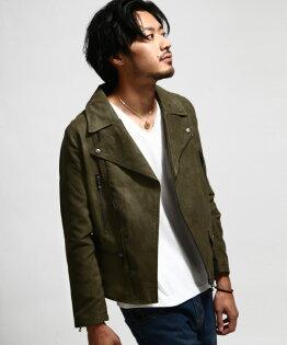 騎士外套麂皮橄欖綠