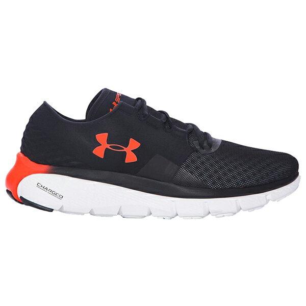 《出清59折》Shoestw【1285677-002】UNDER ARMOUR UA 慢跑鞋 Speedform Fortis 2.1 網眼布 黑橘 男生尺寸