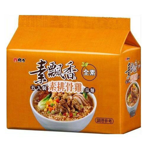 維力素飄香素排骨雞包麵90g*5入【愛買】