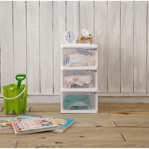 [tidy house]免運費 小純白三格抽屜櫃/收納箱/收納袋//抽屜櫃/塑膠櫃 TWSW03
