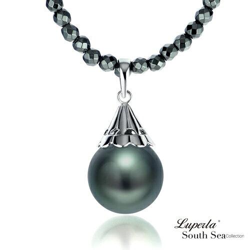 大東山珠寶 頂級南洋大溪地黑珍珠項鍊 燦麗風華