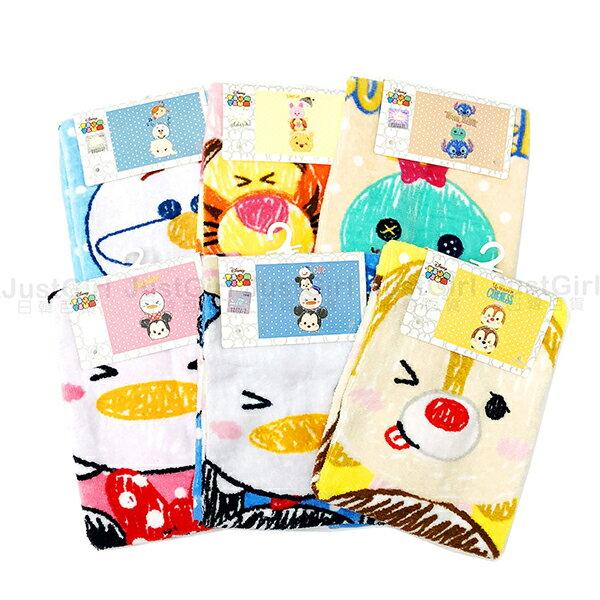 迪士尼TsumTsum毛巾兒童毛巾童巾米奇米妮奇奇蒂蒂維尼史迪奇冰雪奇緣居家正版日本授權