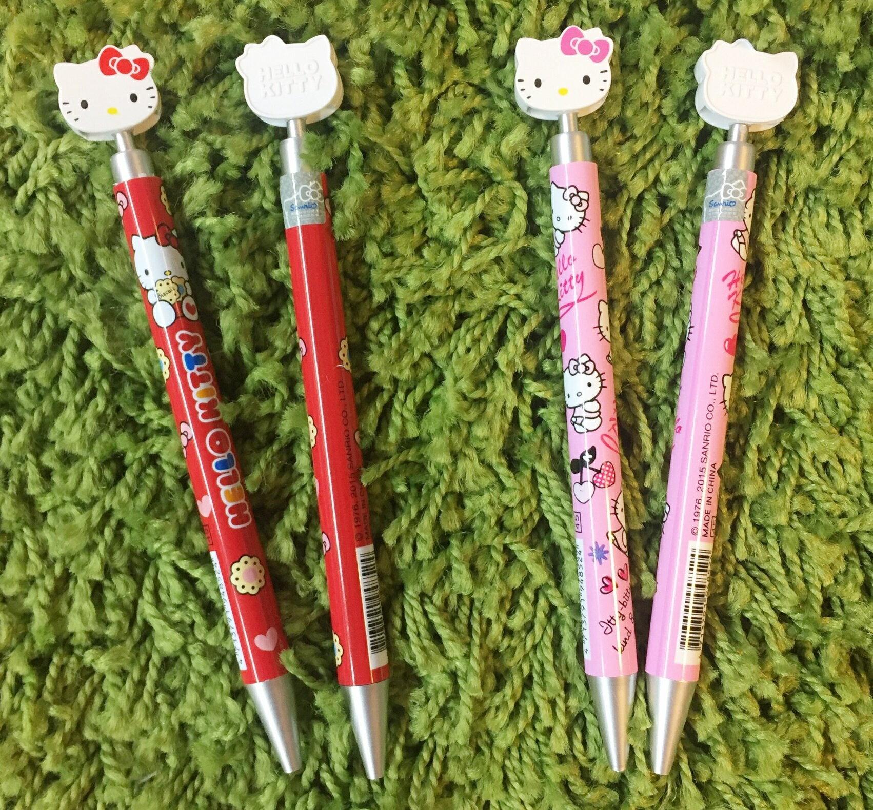 【真愛日本】16041500001臉型按壓自動鉛筆-2款   三麗鷗 Hello Kitty 凱蒂貓   自動鉛筆  文具用品