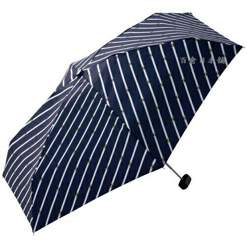 【百倉日本舖】日本進口w.p.c條紋小蝴蝶結折傘(附拉鍊傘袋)雨傘遮陽傘(2色)