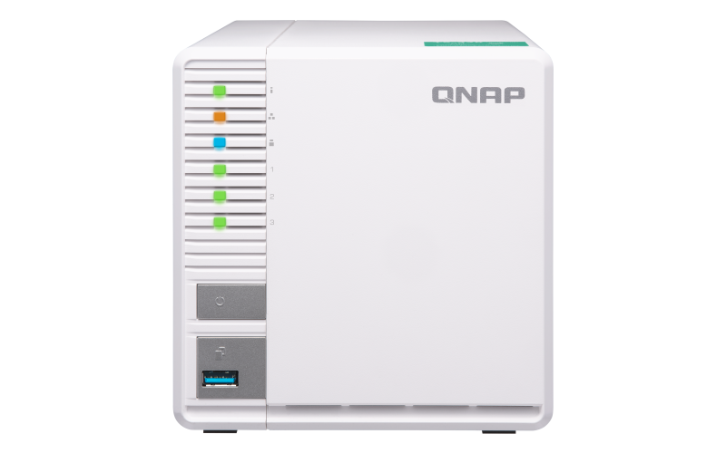 QNAP - QNAP 3-bay Personal Cloud NAS, Ideal for RAID5 Storage  ARM  Quad-core 1 4GHz, 2GB DDR4 RAM, 2 x Gigabit LAN, 2 5