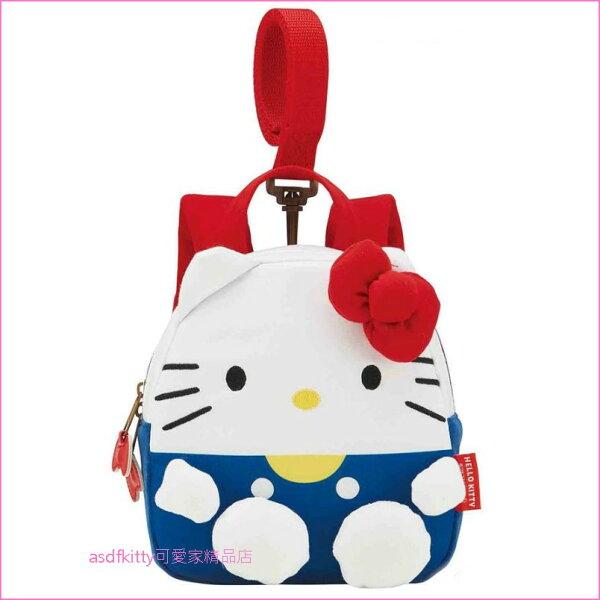 asdfkitty可愛家☆KITTY立體造型兒童防走失後背包-日本正版商品