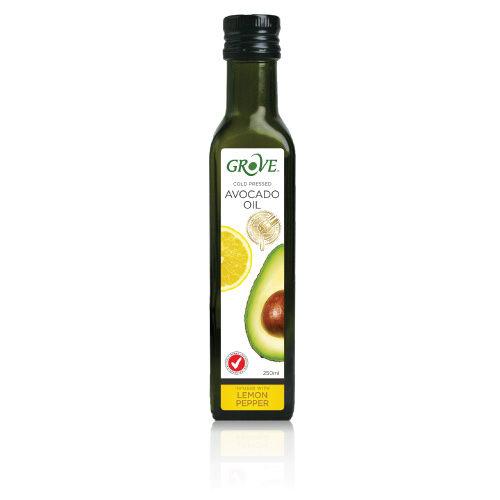 GROVE 100%特級初榨冷壓酪梨油 (檸檬椒鹽風味) 第一道冷壓初榨 250ml/瓶 原價$490 特價$449