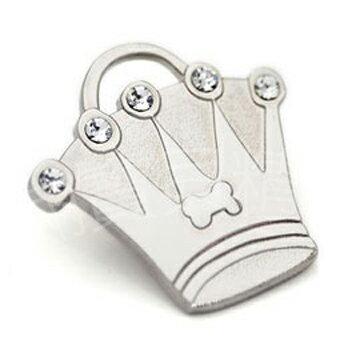 【Hamish McBeth】澳洲品牌BlingBling水晶吊牌(皇冠/銀色)