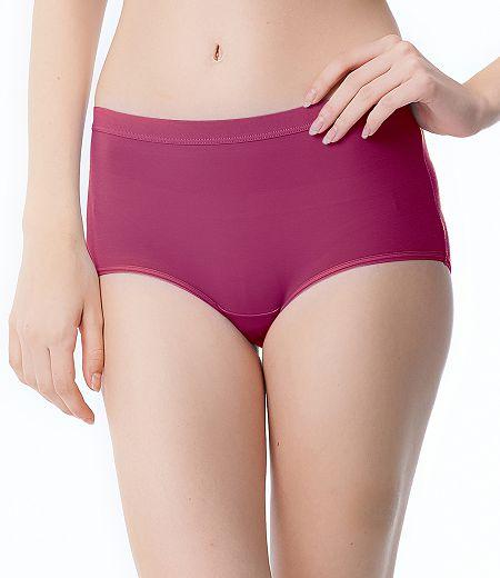 【PH5.5酸鹼平衡褲】Pure5.5-修身超彈中腰女三角褲-靚桃紅【3件$999】
