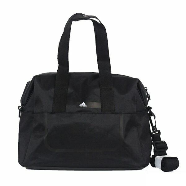 ADIDAS LOGO BAG 旅行包 托特包 側背 大容量 黑 白【運動世界】BQ6995