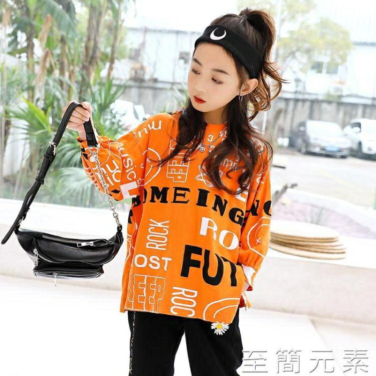 女童T恤長袖春裝新款韓版兒童中大童洋氣網紅寬鬆上衣春秋潮 創時代3C 交換禮物 送禮