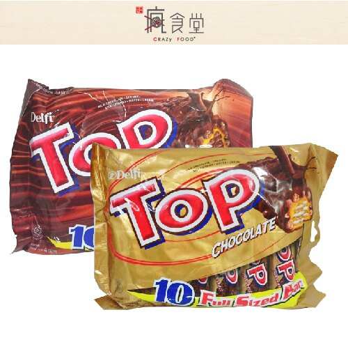 迪飛 TOP 脆米巧克力威化餅 / 印尼版雷神 三層夾心 / 香草脆米 量販包 (16g*10入)