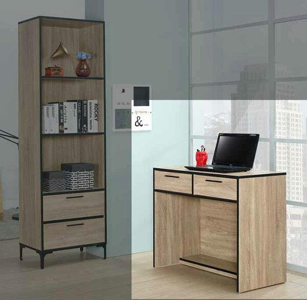 【尚品傢俱】JF-368-2喬治3尺梧桐二抽書桌