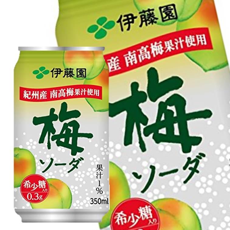 【ITOEN伊藤園】紀州南高梅蘇打 稀少糖碳酸飲料 350ml 梅??? 日本進口