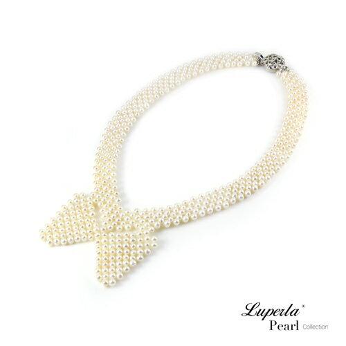 大東山珠寶 晚宴珠寶 天然珍珠項鍊 歐美古典編織珠寶 1